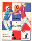 1961 10/14 Buffalo vs Villanova football program