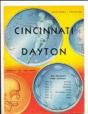 1958 9/20  Cincinnati vs Dayton football program