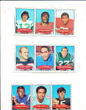 1971 Bazooka Football Panel OJ Simpson Tommy Nobis Tom Woodescick uncut card