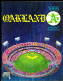 1968 Oakland Athletics Baseball Yearbook ex bxb1