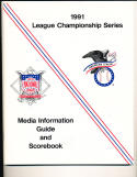 1991 National League & American League Championship series media guide