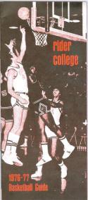 1976 Rider College Basketball Media Guide bkbx5.1300
