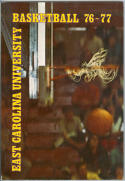 1976 East Carolina Basketball Media Guide bkbx5.1222