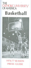 1976 Catholic University Basketball Media Guide bkbx5.1202
