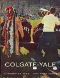 1958 October 25, Colgate vs Yale Football program