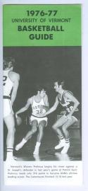 1976 Vermont Basketball Media Guide bkbx5.1336