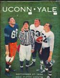 1958 September 27, Uconn vs Yale Football program