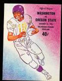 1958, 10/25 Washington vs Oregon State Football program
