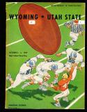 1959 10/3 Wyoming vs Utah state Football program