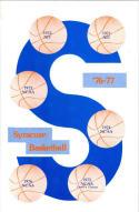 1976 Syracuse Basketball Media Guide bkbx5.1318