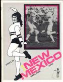 1974  10/19 Wyoming vs New Mexico Football program cbx17