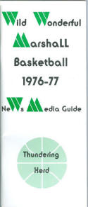 1976 Marshall Basketball Media Guide bkbx5.1255