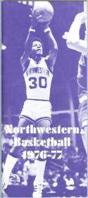 1976 Northwestern Basketball Media Guide bkbx5.1280