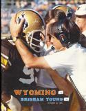 1979, 10/20 Wyoming vs BYU Football program CFBbx12