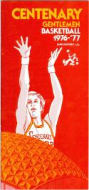 1976 Centenary Basketball Media Guide bkbx5.1203