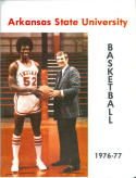 1976 Arkansas State Basketball Media Guide bkbx5.1355