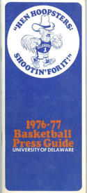 1976 Delaware Basketball Media Guide bkbx5.1217