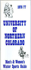 1976 Northern Colorado Basketball Media Guide bkbx5.1278
