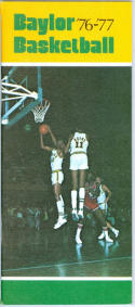 1976 Baylor Basketball Media Guide bkbx5.1192