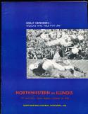 1970 10/16 Northwestern vs Illinois football program