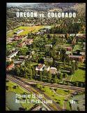 1967 9/23 Oregon vs Colorado football program