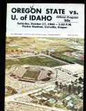 1964 10/17 Oregon State vs Idaho football program CFBbx10
