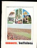 1973 10/20 Oklahoma vs Colorado  football program
