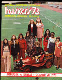 1973 10/20 Nebraska vs Kansas  football program em