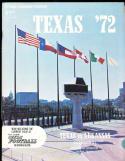 1972 10/21 Texas vs Arkansas football program em