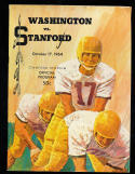 1964 10/17 Washington vs Stanford football program