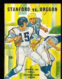 1964 10/31 Stanford vs Oregon football program