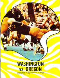 1970 10/31 Oregon vs Washington football program