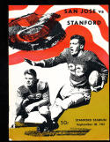 1967 9/30 San Jose state vs Stanford football program