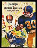 1967 11/4 California vs USC OJ Simpson football program
