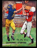 1964 11/21 California vs Stanford football program CFBbx10