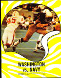 1970 10/3 Washington vs Navy football program