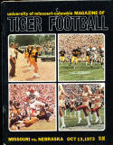 1973 10/13 Missouri vs Nebraska football program