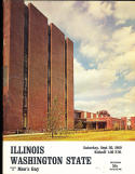 1969 9/20 Illinois vs Washington State football program