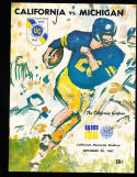 1967 9/30 california vs michigan football program