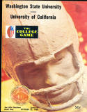 1969 10/25 Washington State vs California football program