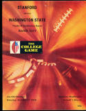 1970 10/17 Stanford vs Washington State football program