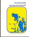 1970 11/14 California vs San Jose State football program