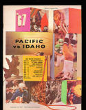 1967 9/16 Pacific vs Idaho football program