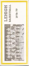 1978 Lehigh University College Basketball Press Media Guide