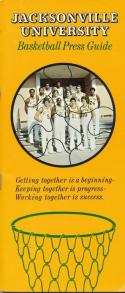 1978 Jacksonville University College Basketball Press Media Guide