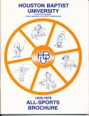 1978 Houston Baptist University College Basketball Press Media Guide