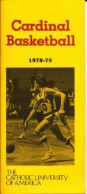 1978 Catholic University of America Cardinal College Basketball Press Media Guid