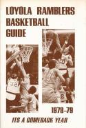 1978 Loyola Ramblers College Basketball Press Media Guide